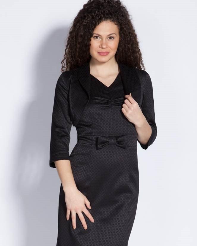 7d49cb49389 Луксозна и елегантна черна дамска рокля от Ефреа. Купи онлайн други рокли  според последните модни ...