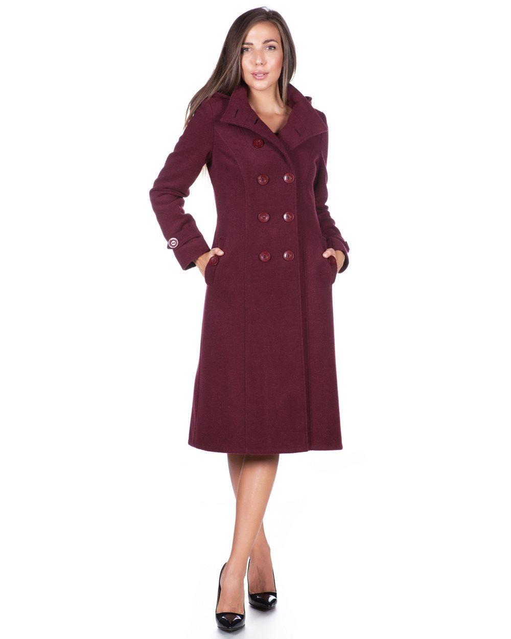 fa7f220ffcf Дълго дамско палто в цвят марсала от Ефреа, и още палто цвят бордо, ...